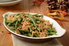 Green bean and onion casserole Royalty Free Stock Photography
