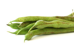 Green bean pods detail Stock Photography