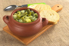 Green Bean and Potato Hotpot Royalty Free Stock Photo