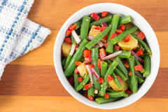 Green bean and potato salad Royalty Free Stock Photos