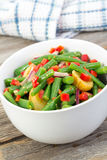 Green bean and potato salad Royalty Free Stock Images