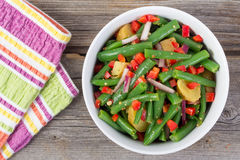 Green bean and potato salad Stock Image