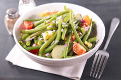 Green bean salad Royalty Free Stock Images