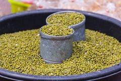 Green bean seed in thai market Stock Photos