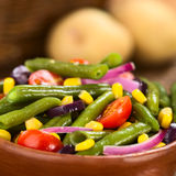 Green Bean, Tomato and Corn Salad Stock Photos
