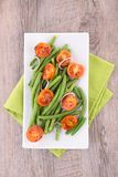 Green bean and tomato Stock Photography