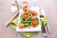 Green bean and tomatoes Stock Image
