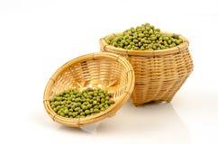 Green Bean (Vigna radiata (L.) R. Wilcz) on white background Royalty Free Stock Images