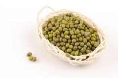 Green Bean (Vigna radiata (L.) R. Wilcz) on white background Royalty Free Stock Image