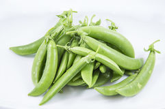 Green Bean on White Background Royalty Free Stock Image