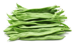 Green beans. Group of green beans isolated on white Royalty Free Stock Photography