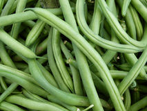 Green beans. At the farmers market royalty free stock photography
