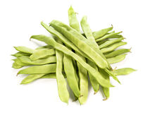 Green beans. Isolated on white Stock Images