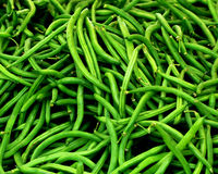 Green Beans. Macro and close up shot Royalty Free Stock Photography