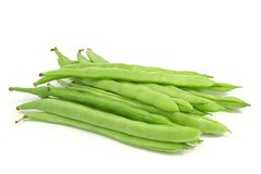 Green Beans. Isolated on white Royalty Free Stock Image