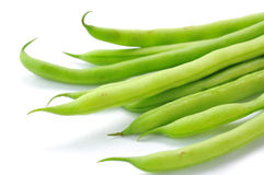 Green beans. Isolated on white background Royalty Free Stock Photos