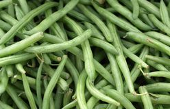 Green beans. For sale at the market Stock Photo