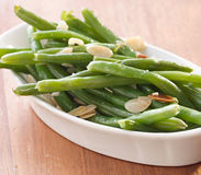 Green beans almondine. Stock Photo