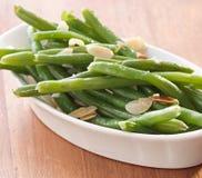 Green beans almondine. Stock Photo
