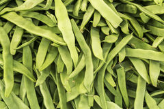 Green beans. As a background on open market Stock Photo