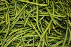 Green beans background stock image