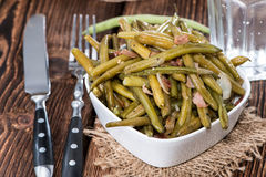 Green Beans with Bacon Stock Photography