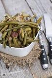 Green Beans with Bacon Stock Photos