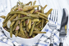 Green Beans with Bacon Royalty Free Stock Photos