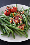 Green beans with bacon Royalty Free Stock Images