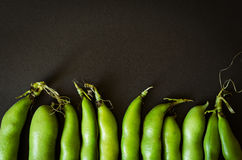 Green beans on the bottom Royalty Free Stock Photos