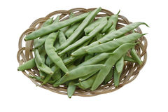 Green Beans. In a Bowl Isolated on White Background Stock Photo