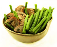 Green beans bowl. Royalty Free Stock Photo