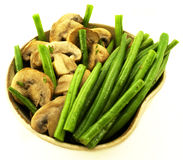 Green beans bowl Royalty Free Stock Photos