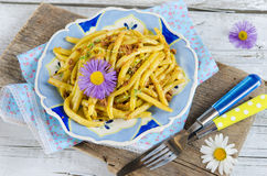 Green beans with breadcrumbs Stock Photo