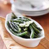 Green beans in butter herb sauce Stock Photography