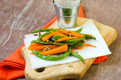 Green beans and carrot Stock Photography