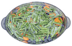 Green beans and carrots Stock Photos