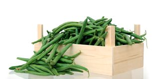 Green beans with case Royalty Free Stock Images