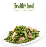 Green beans with chicken Stock Images