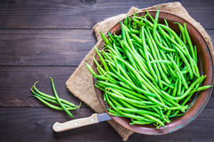 Green beans close up. Stock Photos