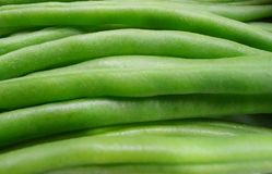 Green beans close up view stock images