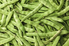 Green beans close-up at the village market . Greece. Green beans close-up at the village market . Greece Royalty Free Stock Image