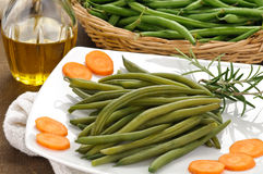 Green beans cooked Royalty Free Stock Image