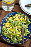 Green beans with corn Royalty Free Stock Photos