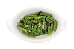 Green Beans With Cranberries and Slivered Almonds Stock Photos