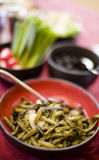 Green beans and food Royalty Free Stock Photos
