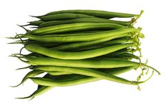 Green Beans on white background royalty free stock images