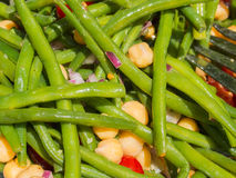 Green beans with garbanzo Stock Image
