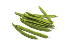 Green beans. Group of green beans on white background Royalty Free Stock Image