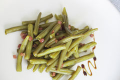 Green beans with ham Stock Photos